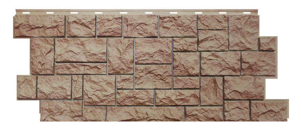 Фасадная панель Nordside «Северный камень» Терракотовый, 463х1117 мм