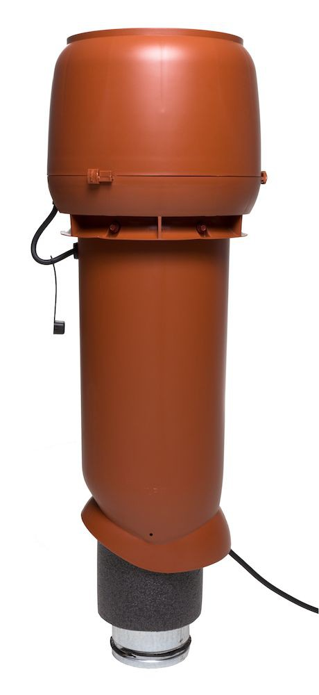 Выход вентиляции помещений 230 кв.м изолированный с электромотором Vilpe E190 P/125/700