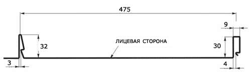 Фальцевая кровля (Клик-фальц) 475 мм в размер