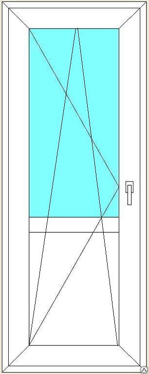Дверь балконная поворотно-откидная REHAU Blitz 650х1900 мм