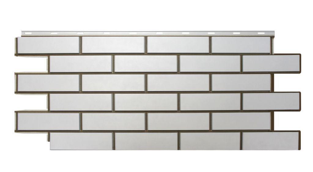 Фасадная панель Nordside «Гладкий кирпич» Белый, 463х1117 мм