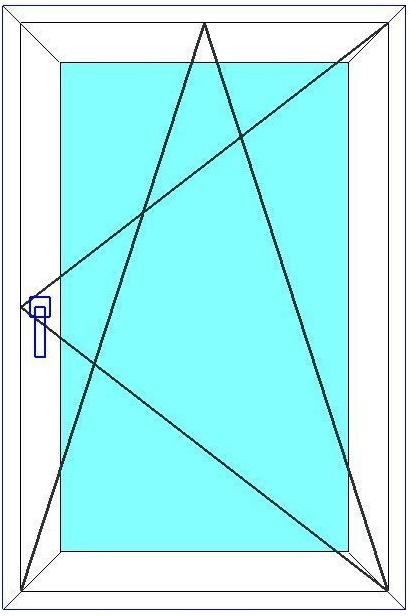 Окно 1-створчатое поворотно-откидное REHAU Blitz 600х600 мм