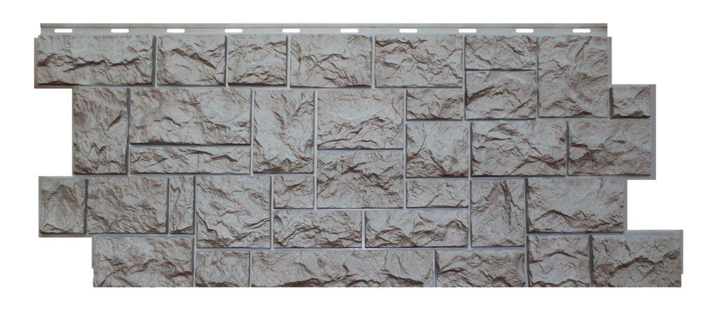 Фасадная панель Nordside «Северный камень» Серый, 463х1117 мм