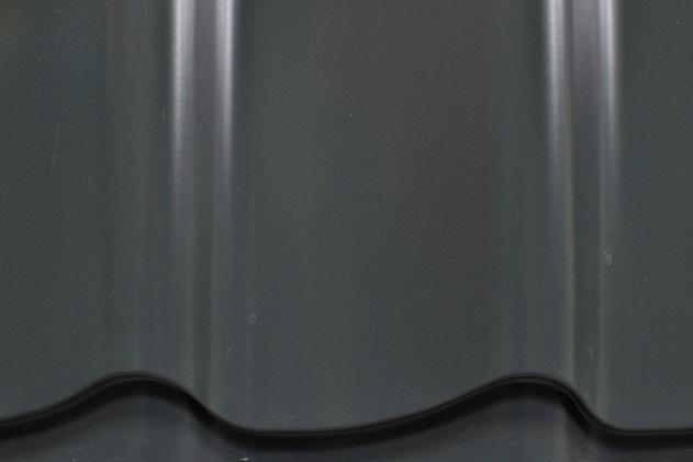 Лист металлочерепицы 500х1190х0,45 мм RAL7024