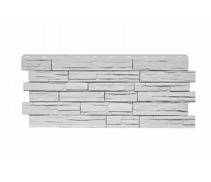 Фасадная панель Nordside «Сланец» Белый, 463х1117 мм